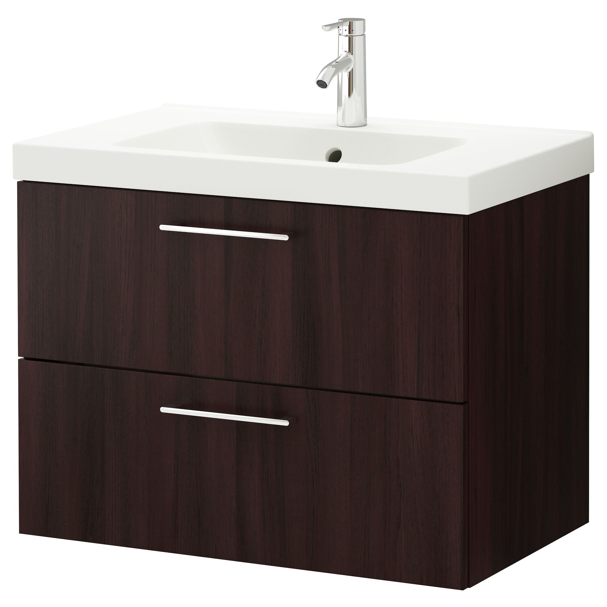 IKEA GODMORGON ODENSVIK Sink cabinet with 2 drawers black