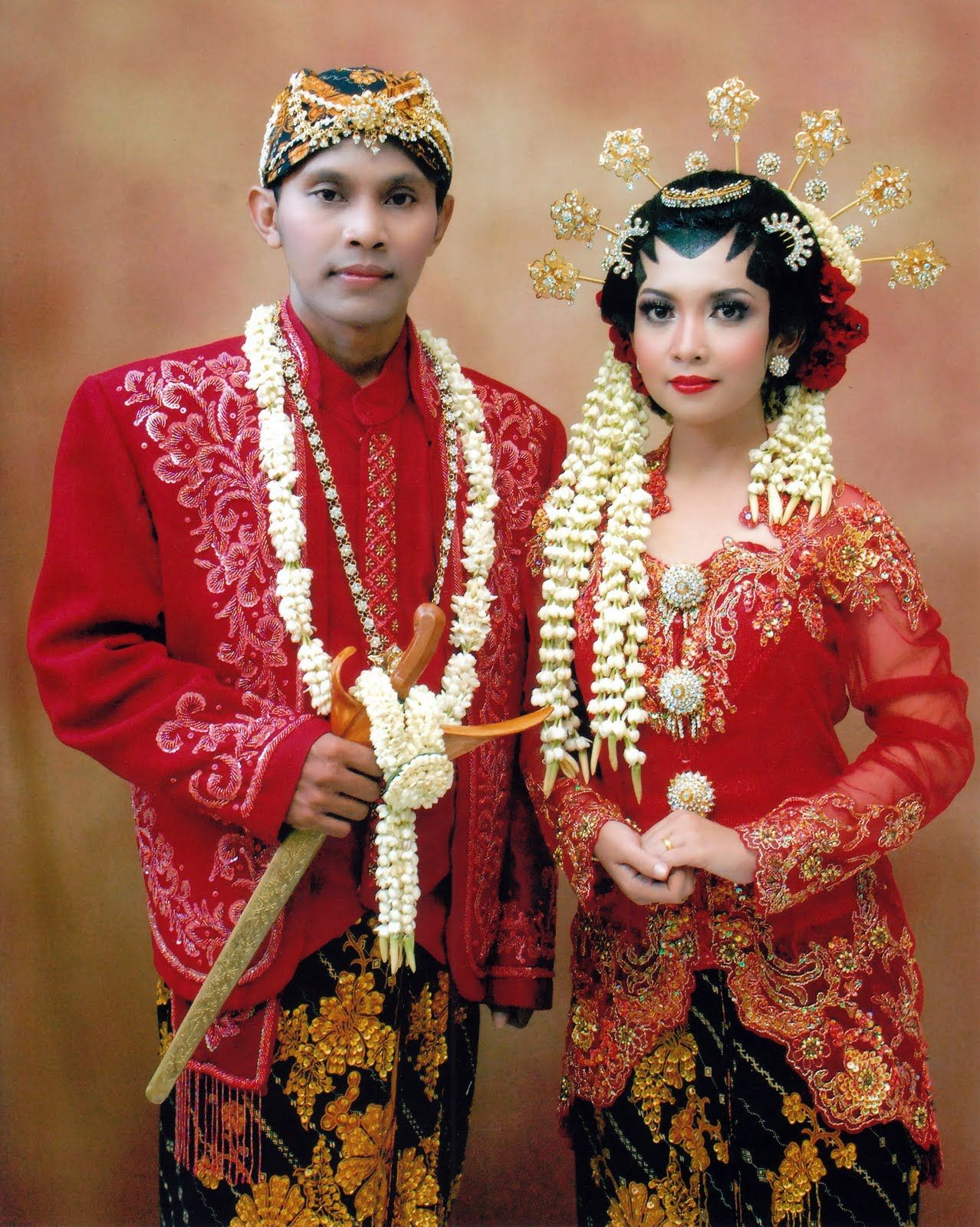 Solo Javanese(Indonesia) wedding costume  Javanese wedding