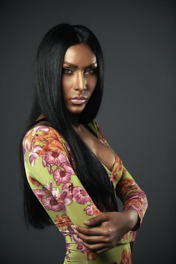 Captivating Middle Parted Long Silky Black Hair
