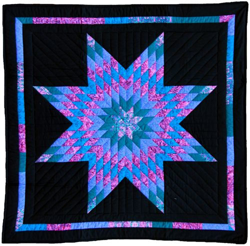 Amish Quilts and their pattern names   Lone Star Amish Inspired ... : amish wall quilts - Adamdwight.com