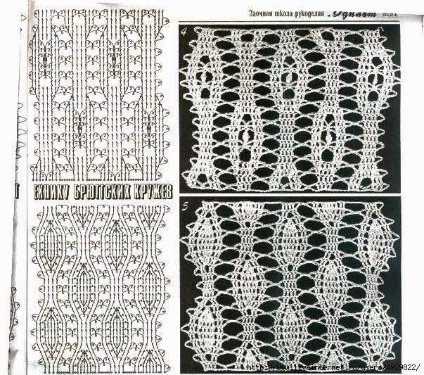 TRICO y CROCHET-madona-mía: Encaje de Brujas a Crochet-Aplicaciones ...