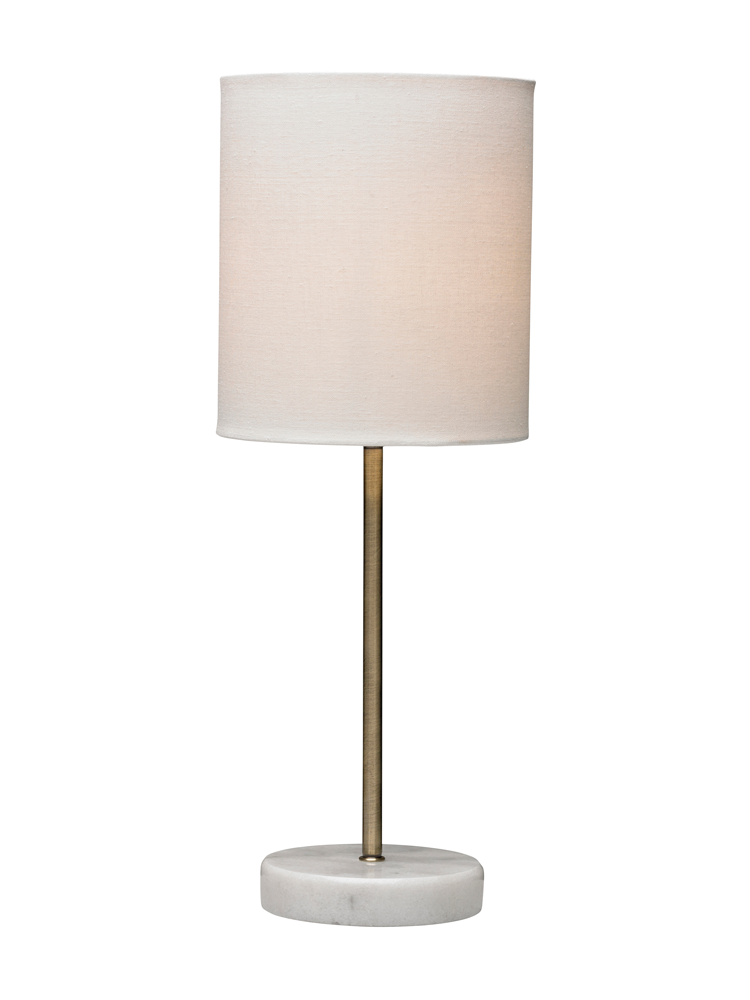Small Marble Base Table Lamp Brass Boudoir Bedroom