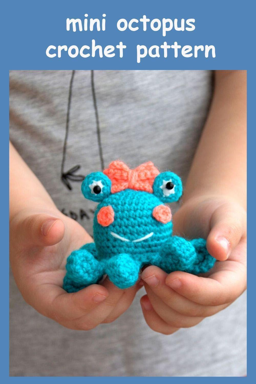 Free Crochet Pattern for Mini Octopus - thefriendlyredfox.com | 1500x1000
