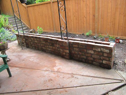 Brick Wall Planter Boxes Google Search House
