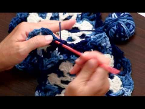Learn to Crochet the Beautiful Dusty Snowflake Throw by Red Heart ...
