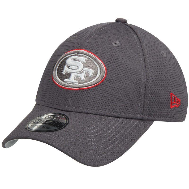 f44ad446ee8ef San Francisco 49ers New Era Tone Tech Redux 39THIRTY Flex Hat - Graphite