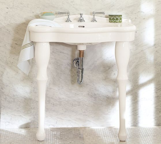Parisian Pedestal Single Sink Console Single Sink Parisian