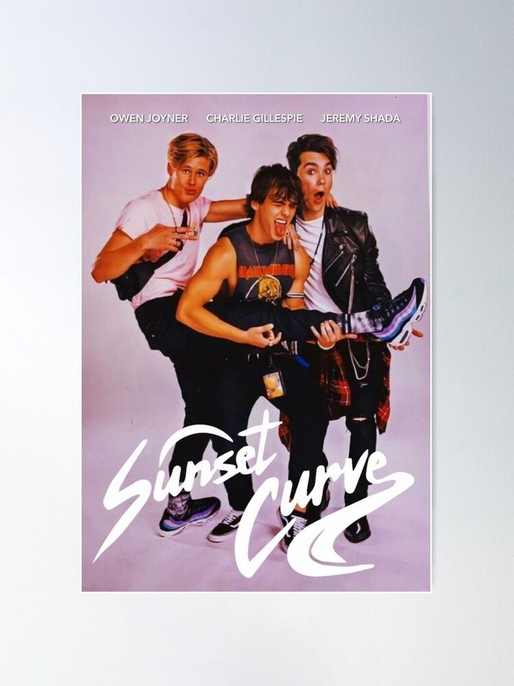 Sunset Curve band poster Poster