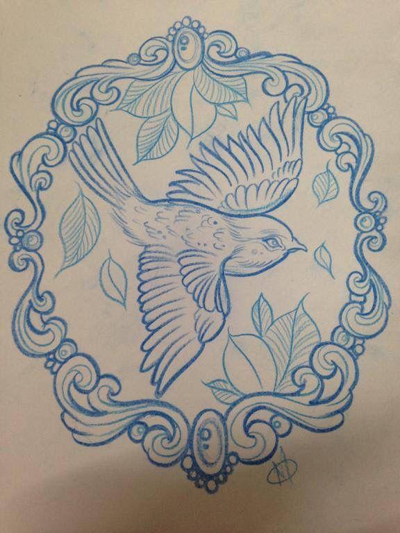 Bird Frame Framed Tattoo Art Tattoo Birds Tattoo