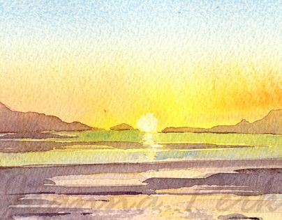 """Check out new work on my @Behance portfolio: """"Watercolours in Mull"""" http://be.net/gallery/31593699/Watercolours-in-Mull"""