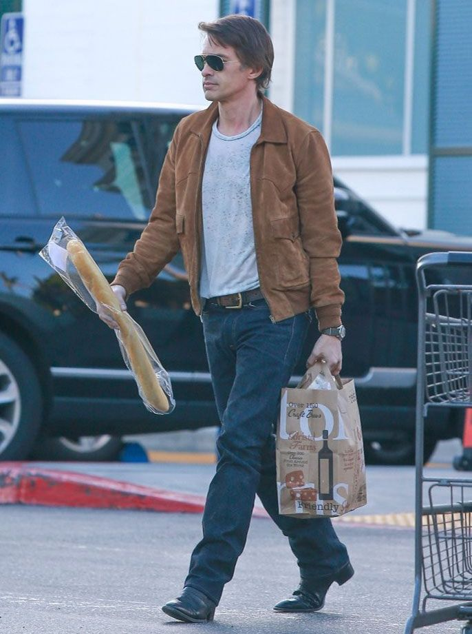 ada7e8eab1df Olivier Martinez wears Saint Laurent Leather Jacket in Beverly Hills   oliviermartinez  saintlaurent  leatherjacket  beverlyhills