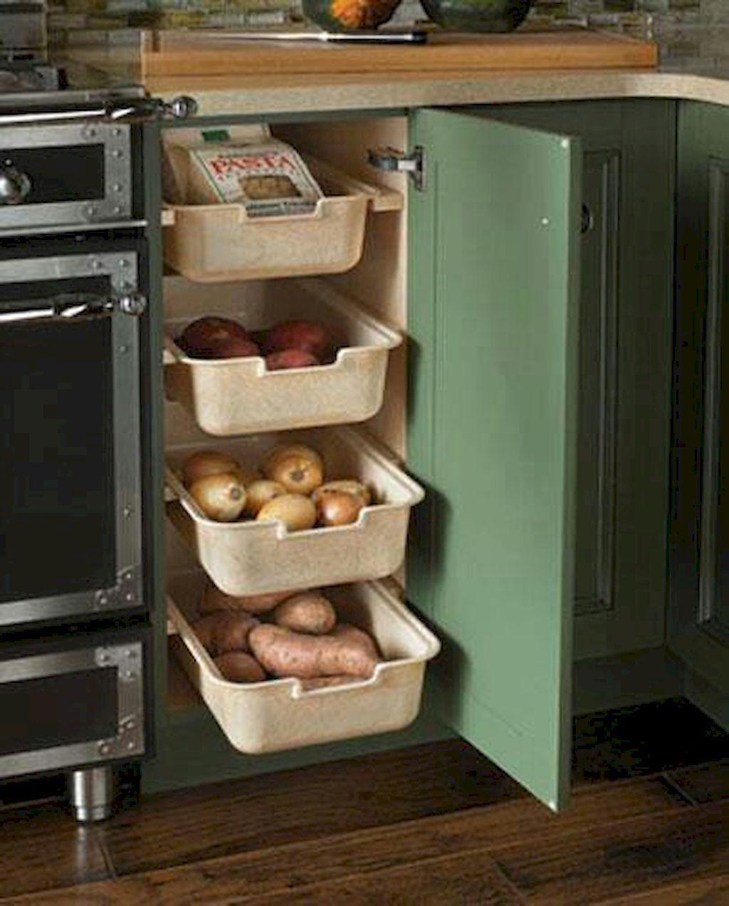 60-clever-clean-kitchen-storage-organization-ideas-5b55f9c9a5c79 #kitchenremodel