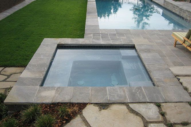 Rectangular Pool With Limestone Coping And Cobblestone: Sebastian Grey Limestone Paving And Pool Coping