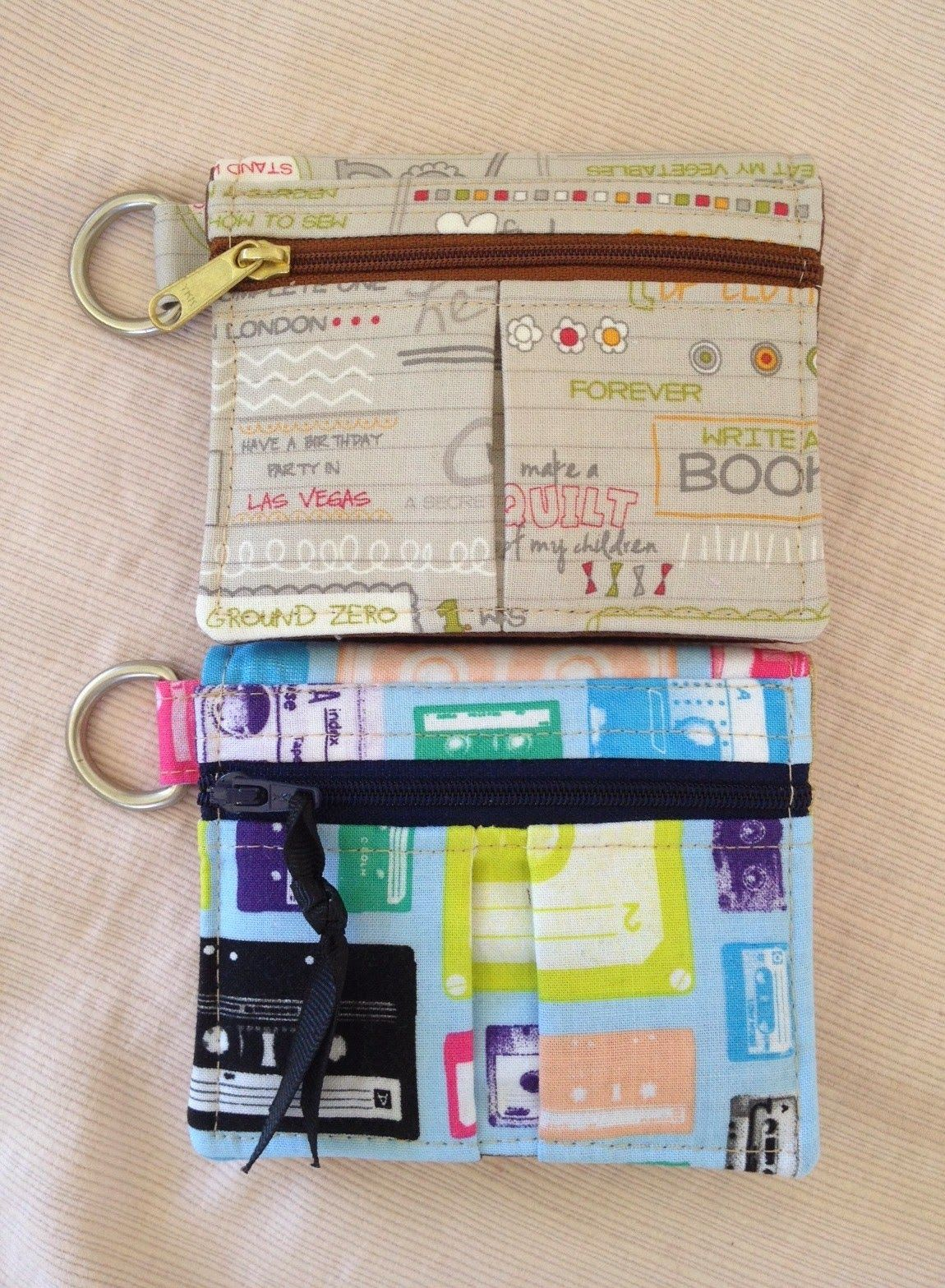 Get Carded Wallets. Pattern by Dog Under My Desk and made by Norma's Bag Boutique