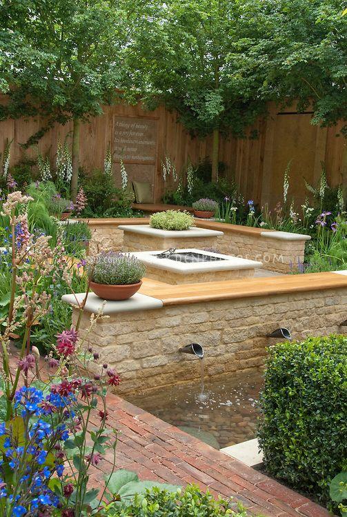 Meditation Garden With Poem By Keats Plant Flower Stock