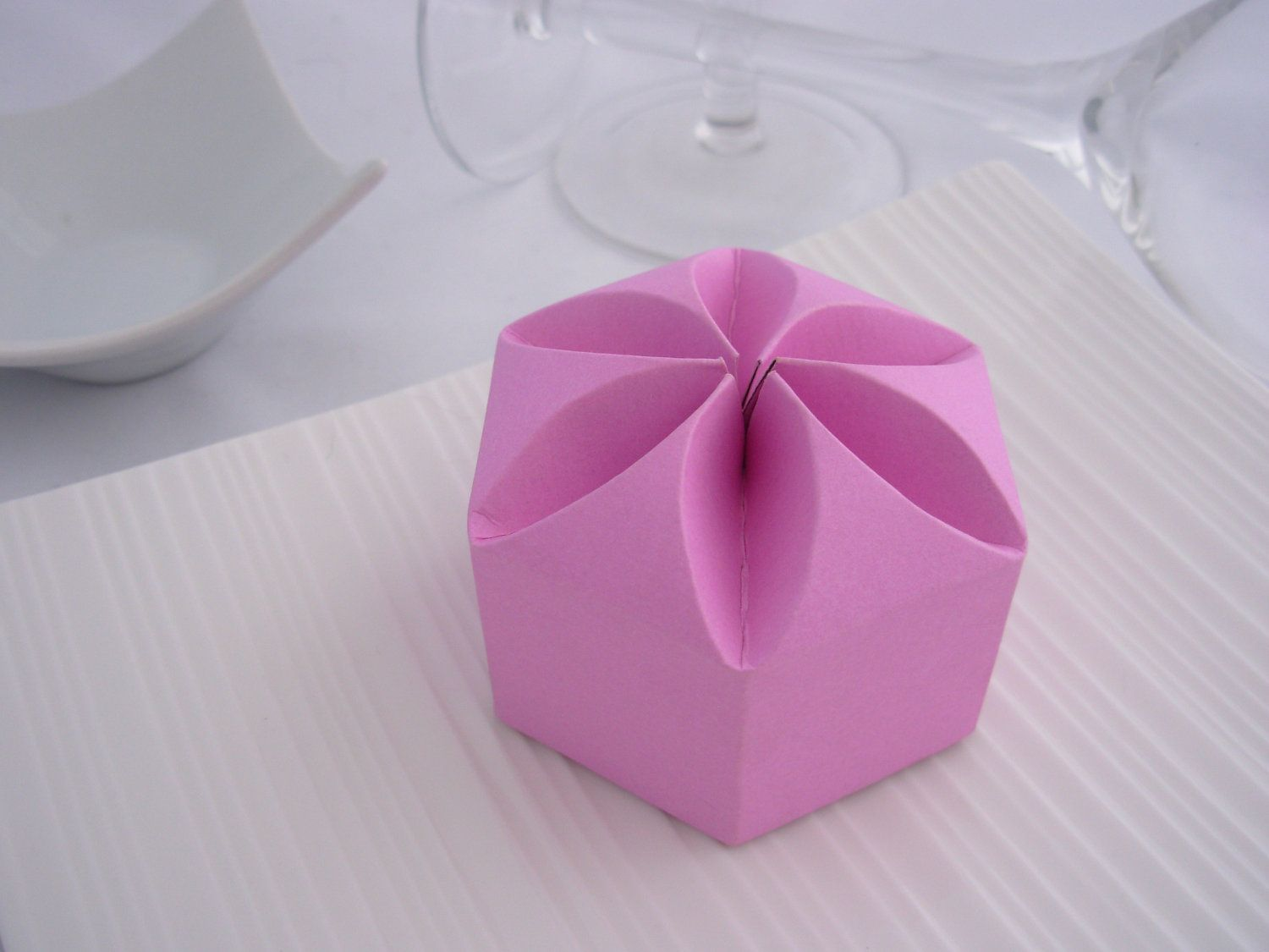 DIY Wedding Favor - Lotus Bossom Box Template. $2.50, via Etsy ...