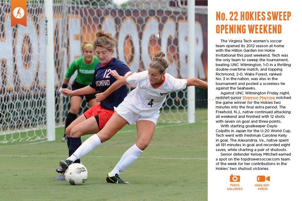 HokieSports Weekly Women's soccer team, Womens soccer
