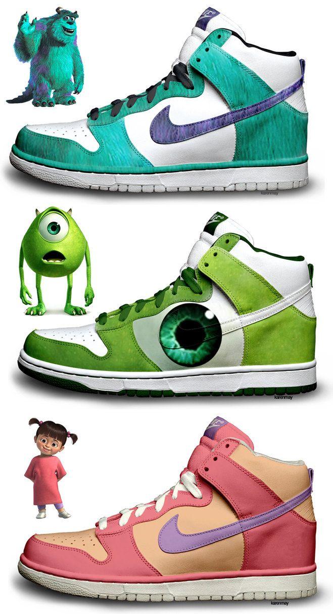 new arrival 3a715 007a2 Monsters Inc Nike Dunk SB High Tops Custom Shoes