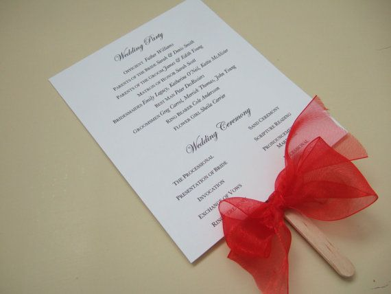 @Bri W. Poore Again...I have antiqued paper or I can scan and copy your wedding invite!  I can DIY Wedding Fan Program pdf by angelayoung1 on Etsy, $15.00