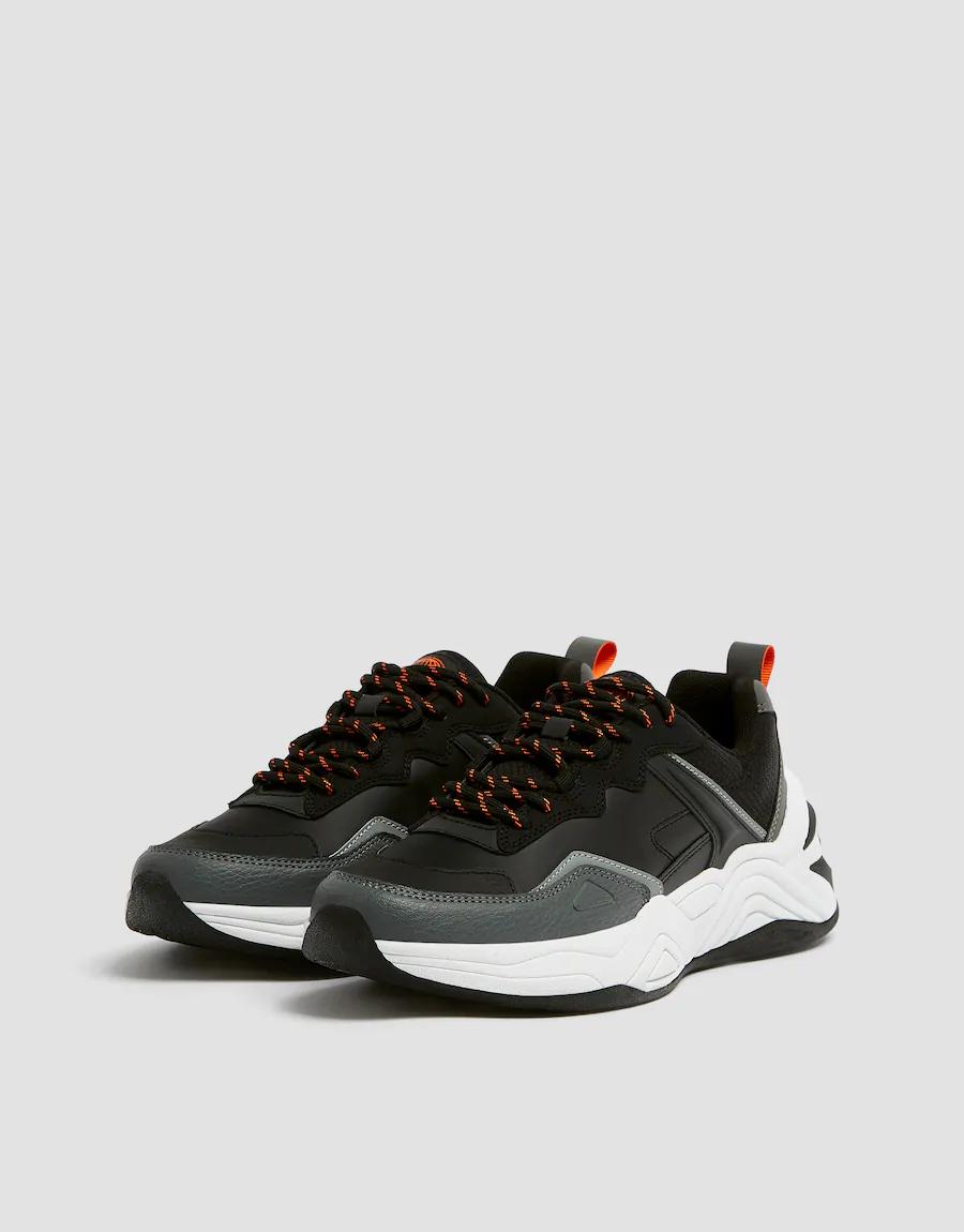 Buty Sportowe Na Grubej Podeszwie Z Czarnym Elementem Pull Bear Shoes Online Shoes Footwear