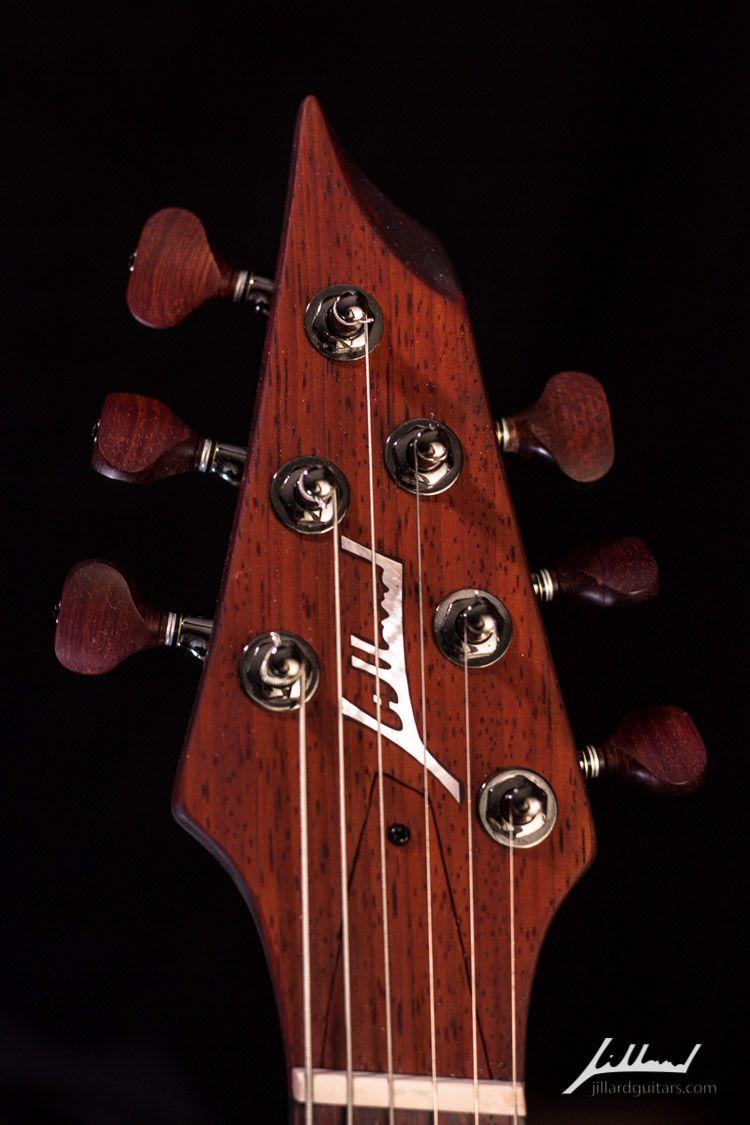 Jillard Guitars Custom Paduak Empress Fan Fret Guitar Headstock Guitarra