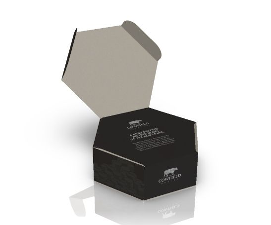 Download Black Hexagon Box Packaging Miel