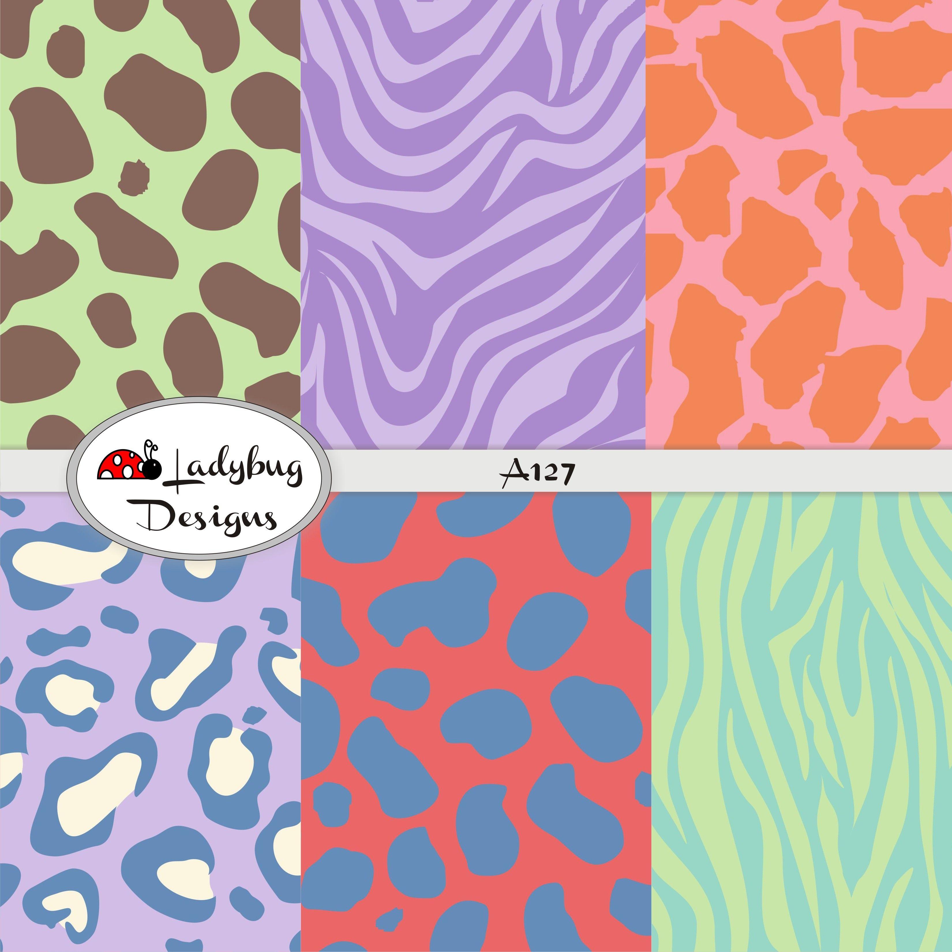 Papeles decorativos scrapbook pintas multicolor animal - Papeles decorativos de pared ...