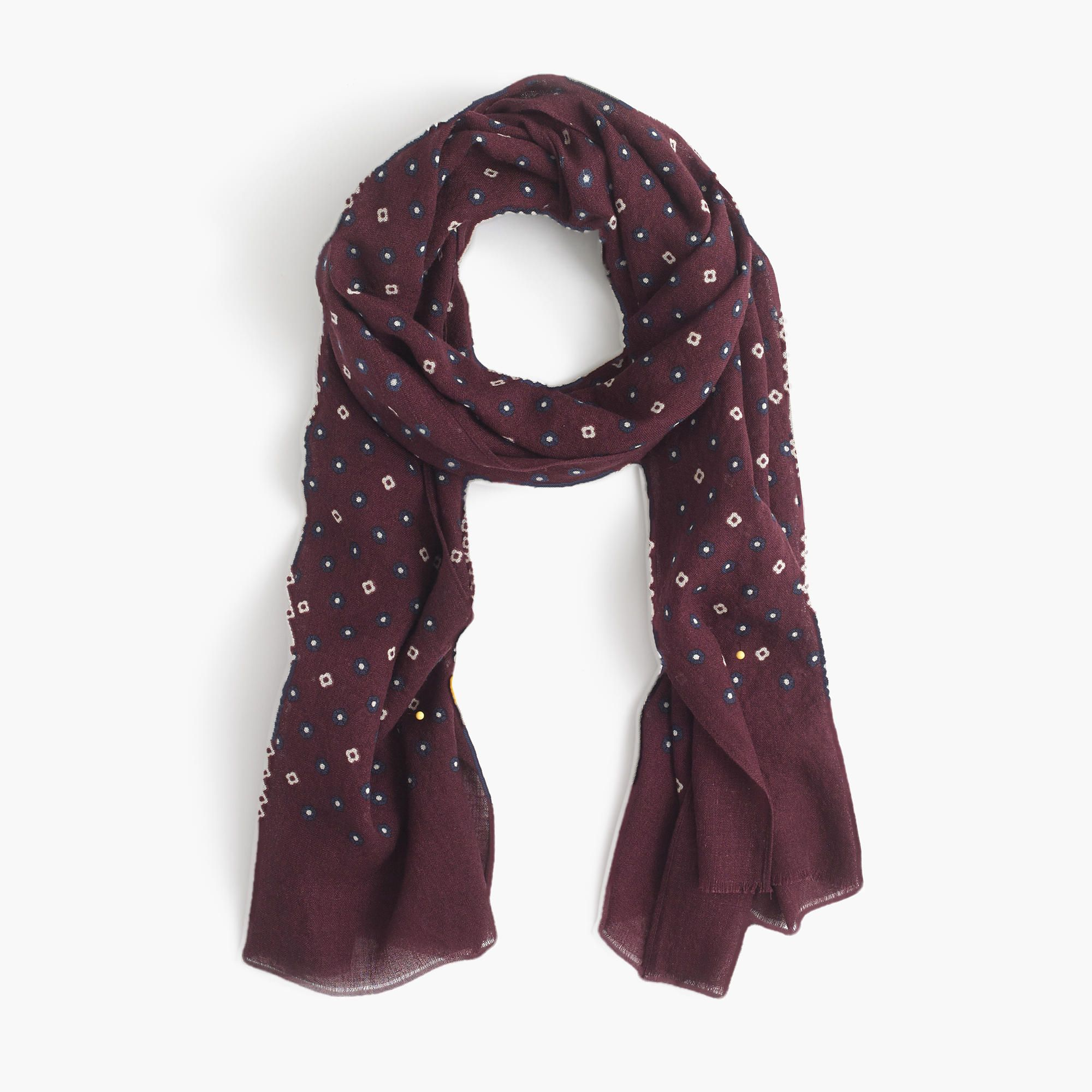 Lightweight wool-silk star and clover scarf   scarves   J.Crew   Rob s  picks   Pinterest 27ec7db2faa