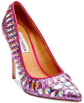 794f8f07f91 I love these. Steve Madden Galaxxie Glitter Pumps. Macys