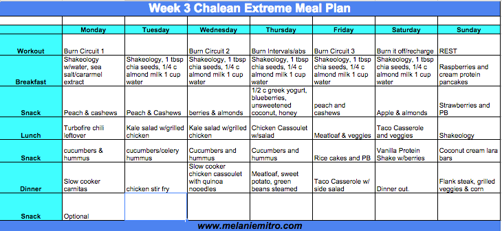 chalean extreme week 3 meal plan and progress update piyo rh pinterest com chalean extreme guidebook pdf ChaLEAN Extreme Workout