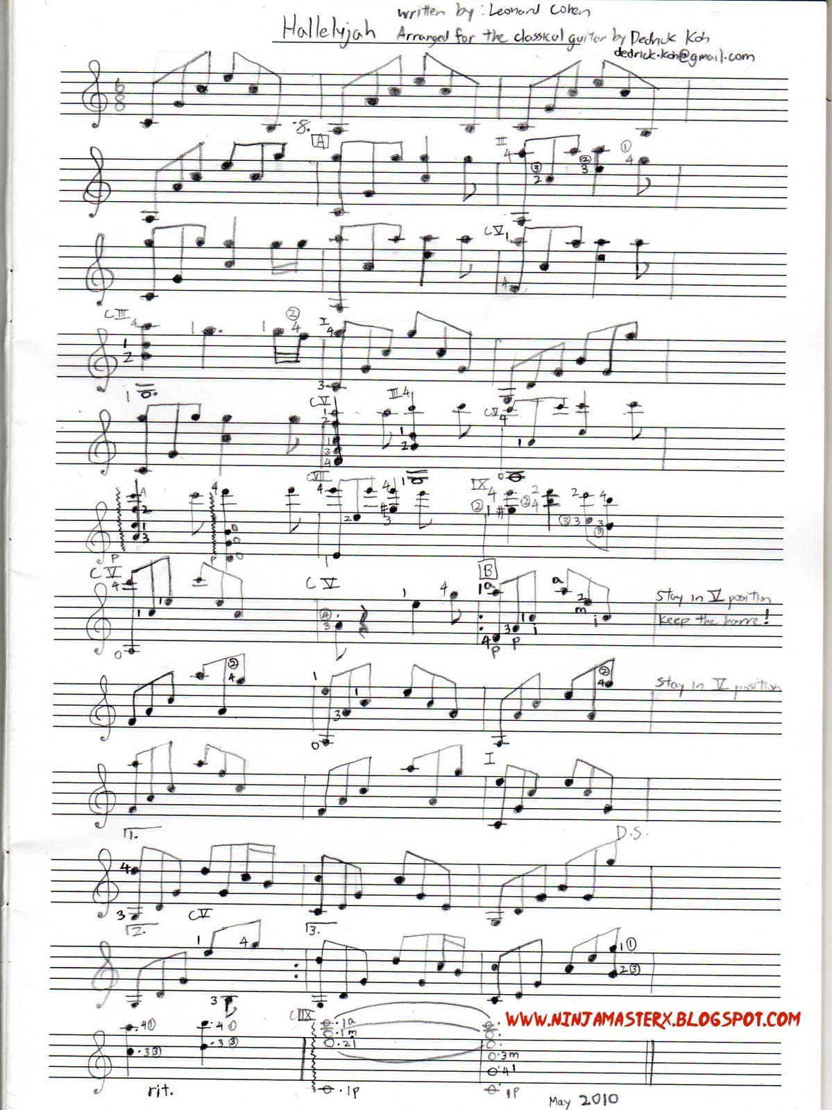 Fantastic Guitar Chords For Hallelujah From Shrek Pictures