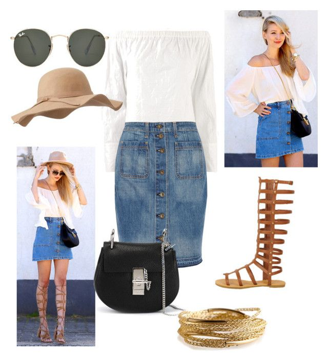 """""""Denim with Blouse"""" by emilybeauty101 on Polyvore"""