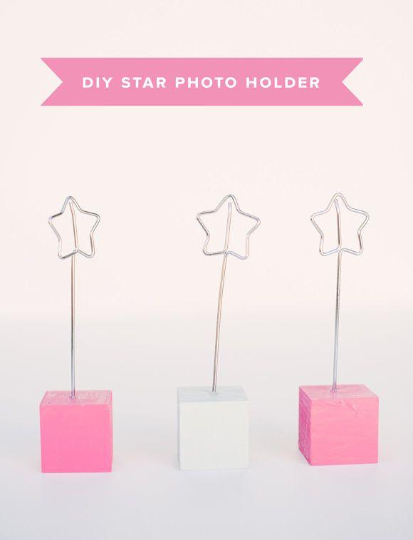 Diy Wire Star Photo Holder Handmade Charlotte Diy Photo Holder Photo Holders Diy Picture