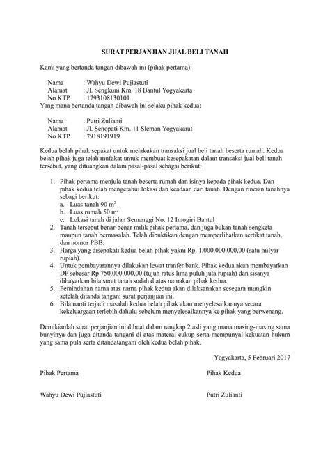 Contoh Surat Perjanjian Jual Beli Cpo Contoh Surat Perjanjian Jual