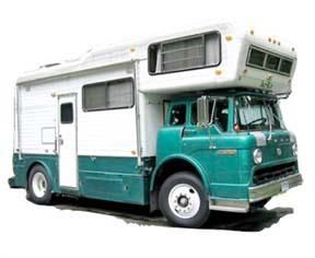 Ford chassis mounted truck camper