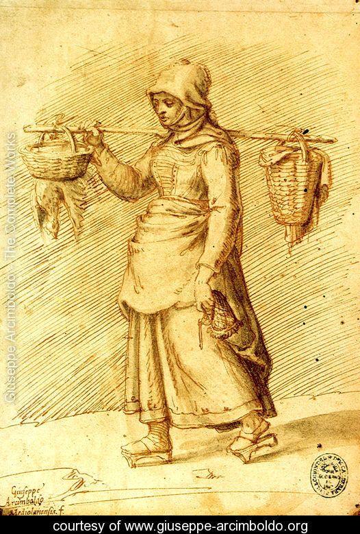 Peasant Women Going to the Market - Giuseppe Arcimboldo - www.giuseppe-arcimboldo.org