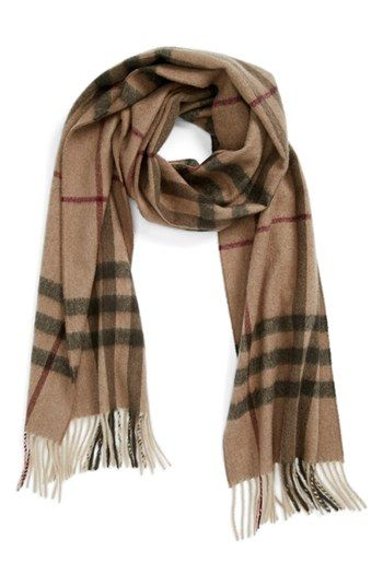 45e7ecd75 Burberry Giant Check Fringed Cashmere Muffler available at #Nordstrom