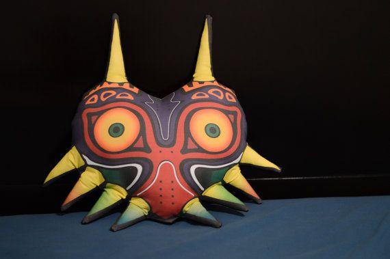 Majoras Mask Pillow / Plush by ILLNESSART on Etsy