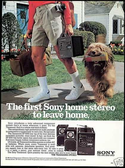 Sony Transound Component Stereo Photo (1981)  Thankfully when I was allowed to take a BOOM BOX out... they were much lighter