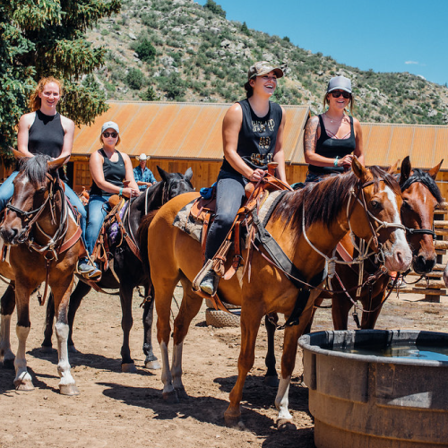 Bachelorette party, horseback riding, girlfriends get away