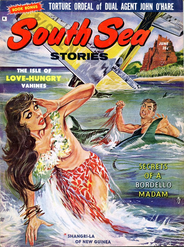 South Sea Stories June 1961 Cover By Mark Schneider Sea Stories South Seas Adventure Art