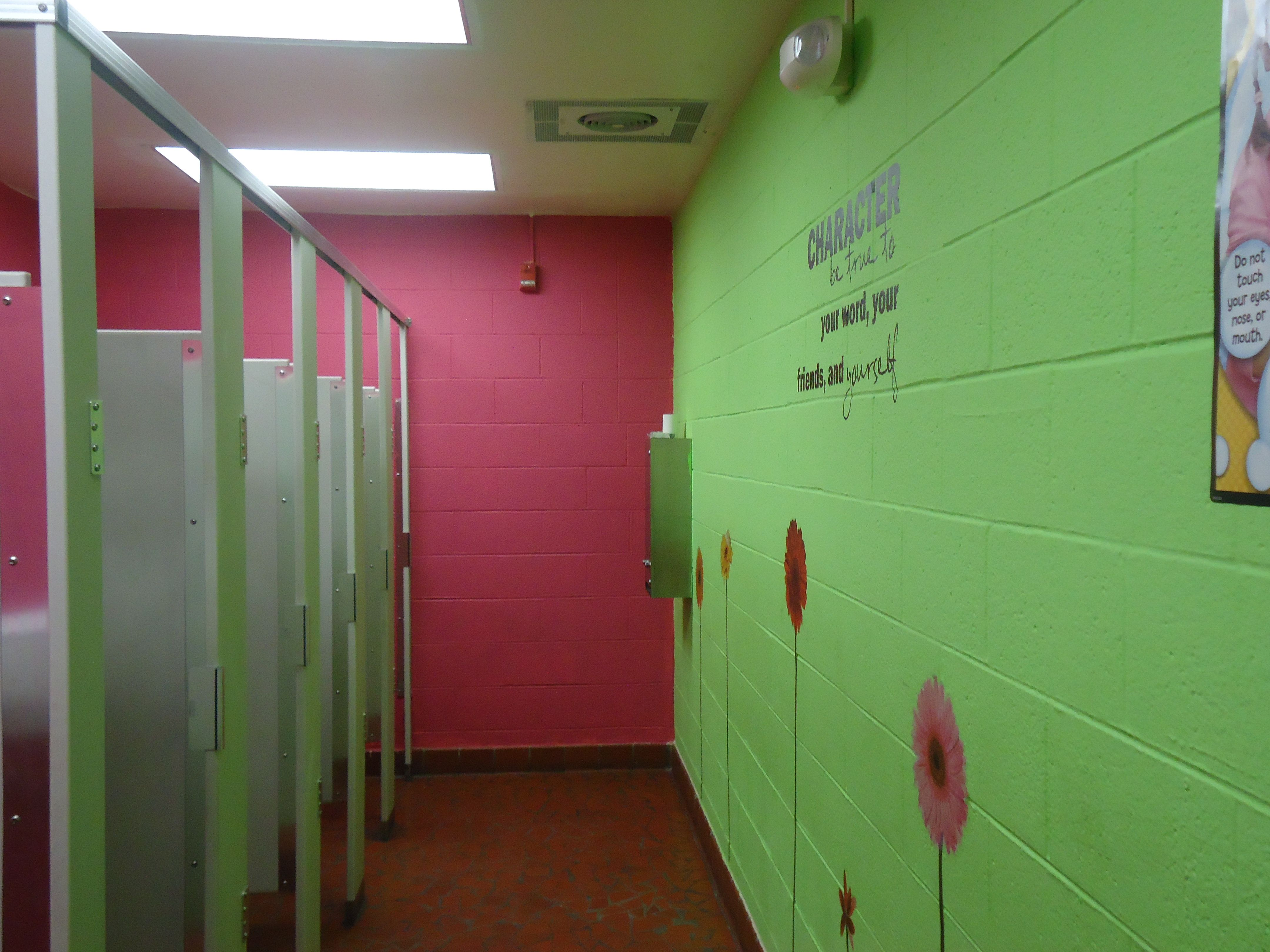 school bathrooms. Simple Bathrooms Leaders Deserve Pretty Places All Over Their School Girls Bathroom At St  Stephen Elementary Throughout School Bathrooms O