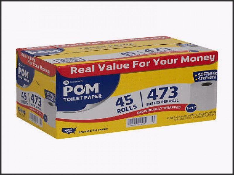 POM Bath Tissue 473 sheets, 45 rolls 2 Ply