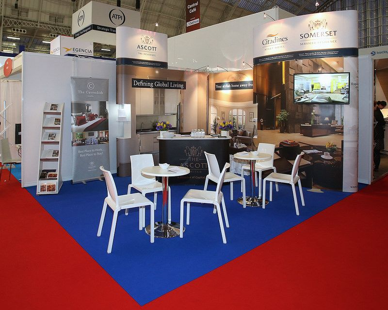 Stand design for Ascott Hospitality at Travel tech 2015 by Quadrant2Design