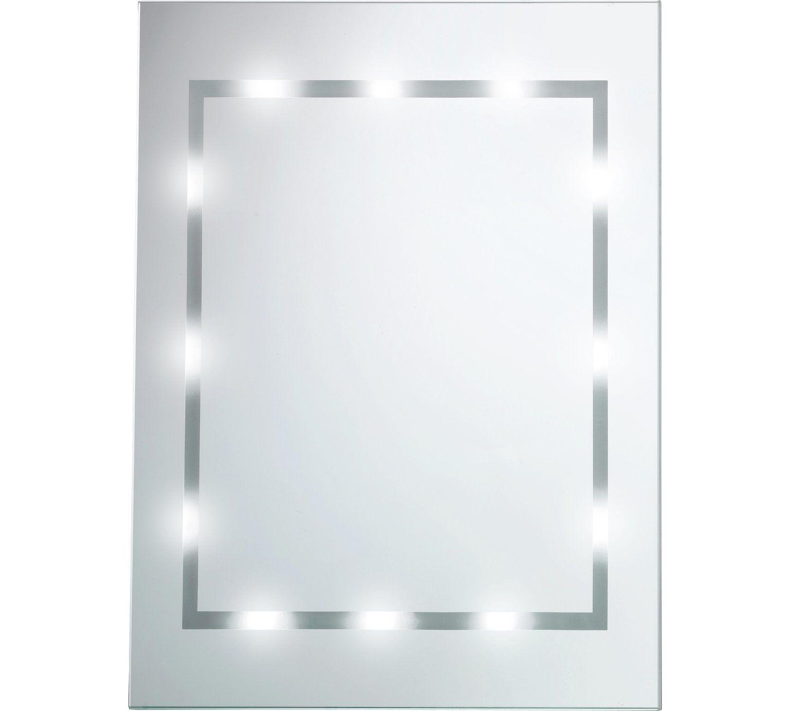 Buy Argos Home Illuminated Bathroom Mirror White Gloss Mirrors Argos Argos Home Bathroom Mirror Mirror