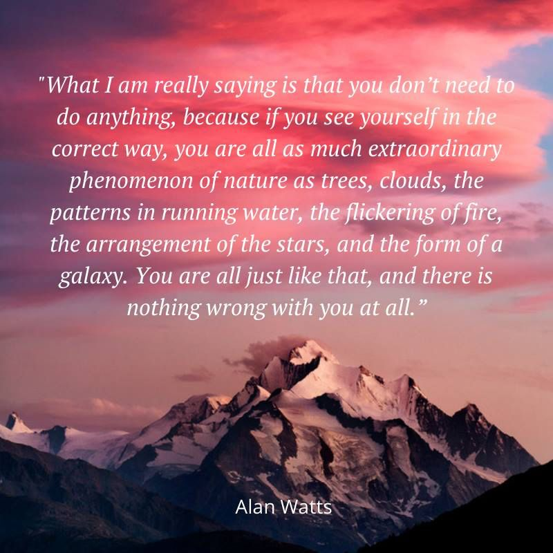There Is Nothing Wrong With You At All Alan Watts Quotes Alan