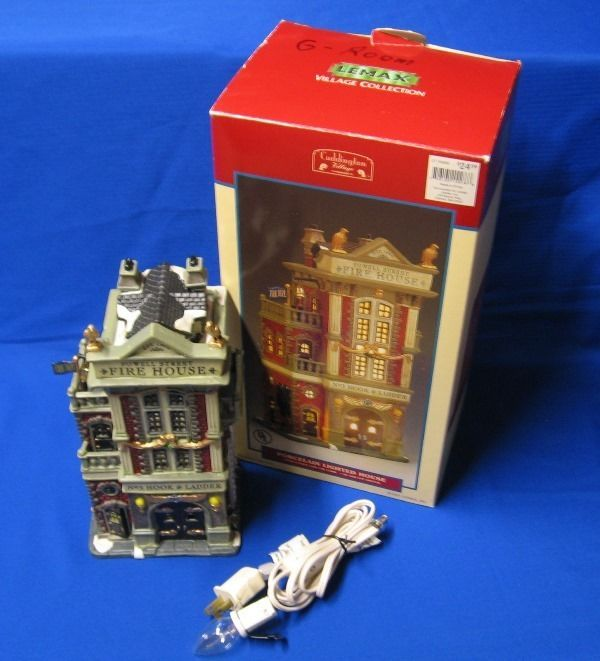 Lemax Village Collection Powell Street Fire House Lighted Porcelain House