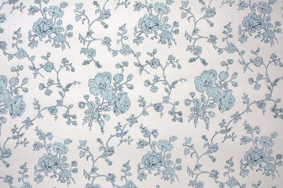 1950s Vintage Wallpaper by the Yard - Floral Wallpaper ...