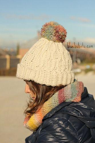 patron gratis gorro blue bubalu de crochet | Crochet y punto ...