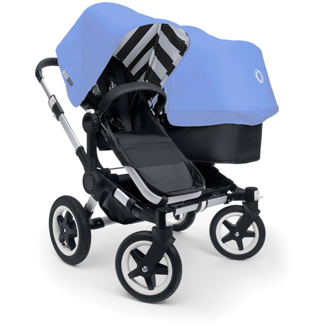 Double Pushchair Bugaboo Bugaboo Donkey Duo Special Colours Jewel Blue Bugaboo